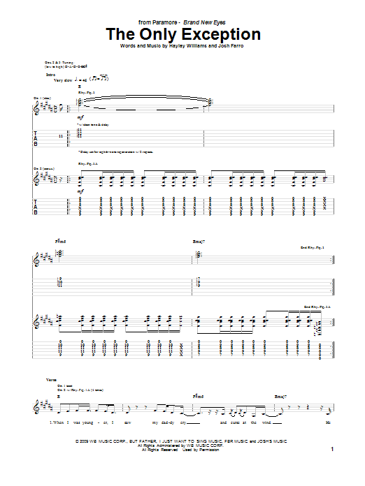 Sheet Music Digital Files To Print - Licensed Paramore Digital Sheet ...