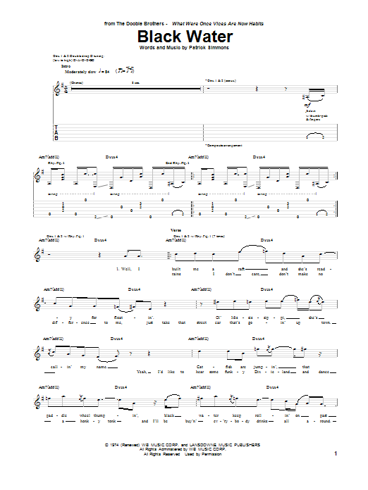 Sheet Music Digital Files To Print Licensed The Doobie Brothers