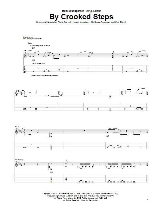 Tablature guitare By Crooked Steps de Soundgarden - Tablature Guitare