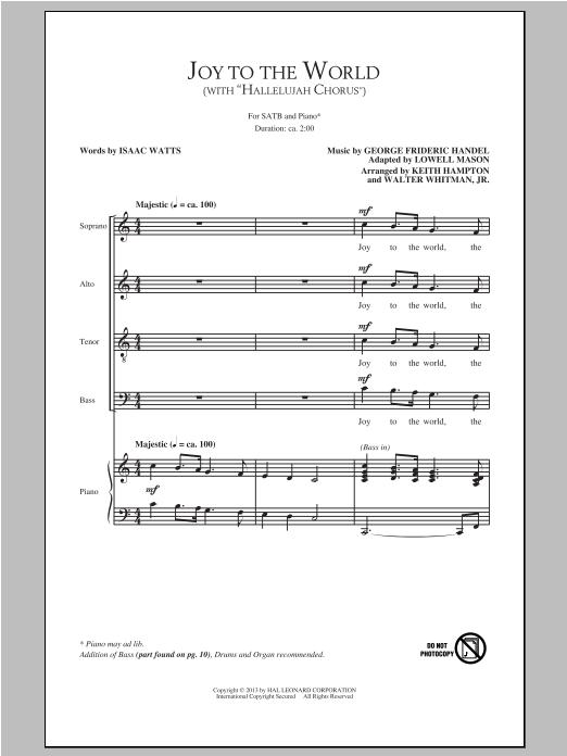 Partition chorale Hallelujah Chorus de Keith Hampton - SATB