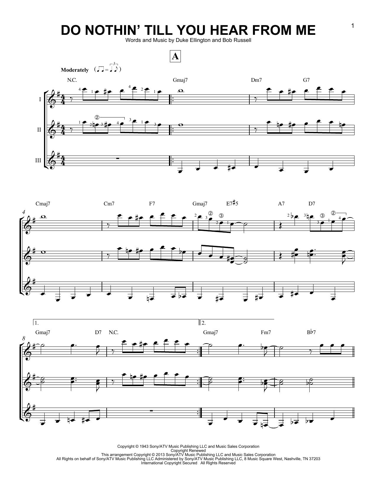 Partition autre Do Nothin' Till You Hear From Me de Duke Ellington - Autre