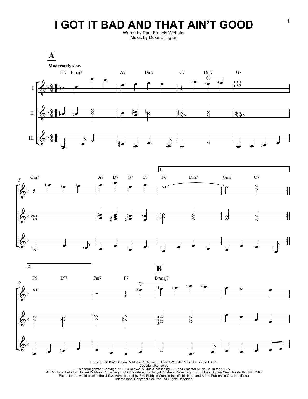 Partition autre I Got It Bad And That Ain't Good de Duke Ellington - Autre