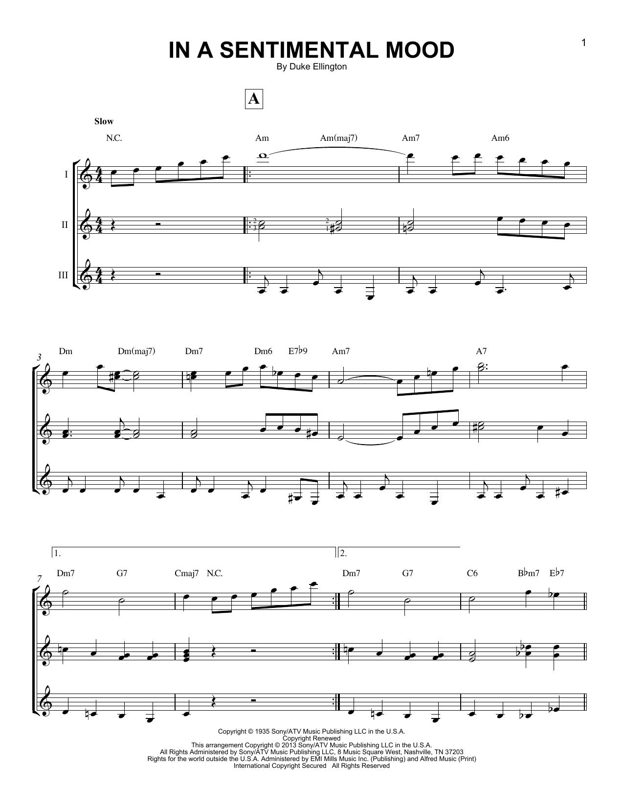 Partition autre In A Sentimental Mood de Duke Ellington - Autre