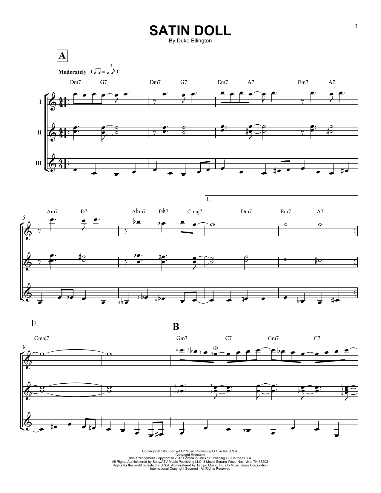 Partition autre Satin Doll de Duke Ellington - Autre