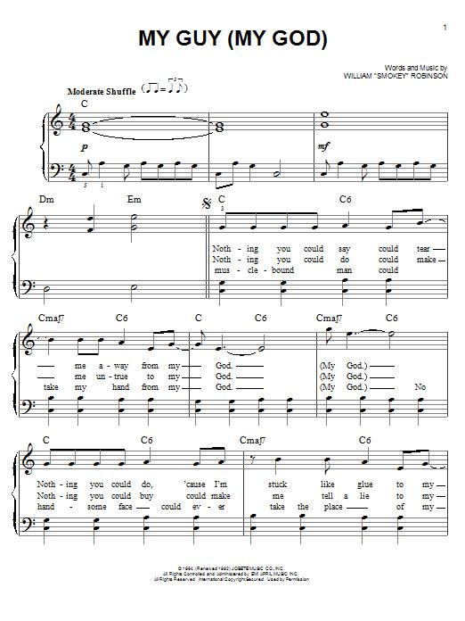 "Partition piano My Guy de William ""Smokey"" Robinson - Piano Facile"