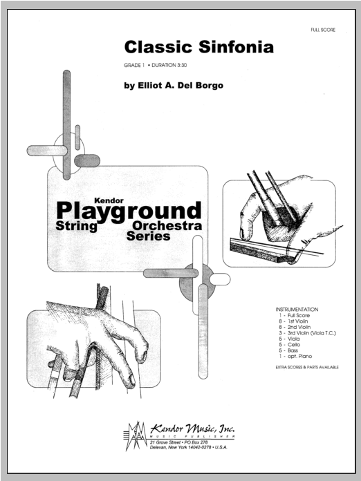 Classic Sinfonia (COMPLETE) sheet music for orchestra by Del Borgo