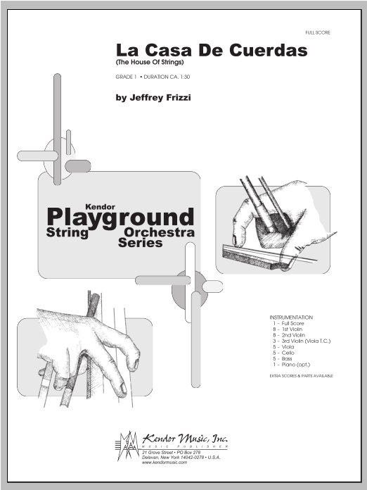 La Casa De Cuerdas (The House Of Strings) (COMPLETE) sheet music for orchestra by Frizzi