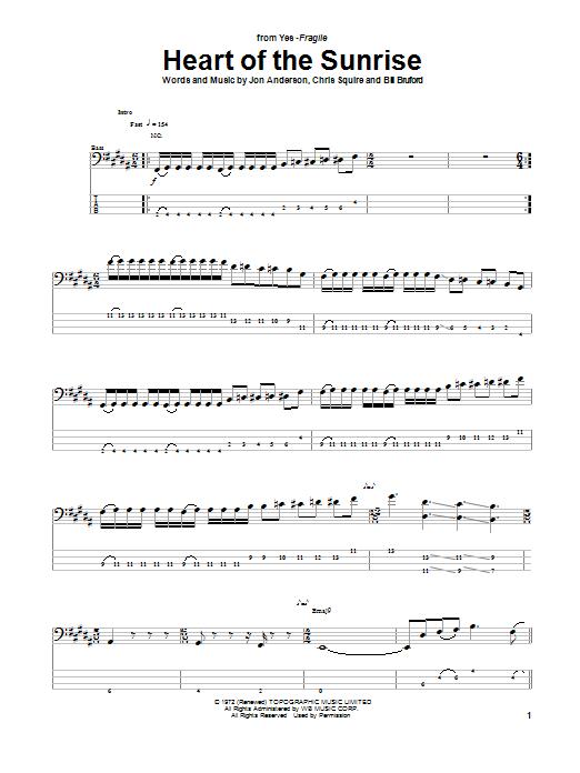 yes guitar tab: