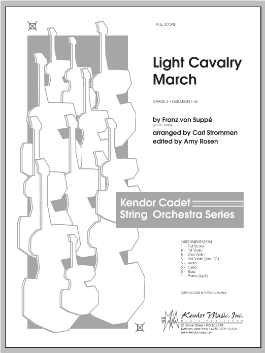 Light Cavalry March (COMPLETE) sheet music for orchestra by Carl Strommen