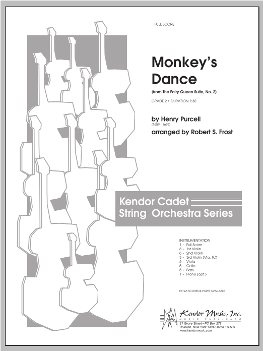 Monkey's Dance (from The Fairy Queen Suite, No. 2) (COMPLETE) sheet music for orchestra by Frost
