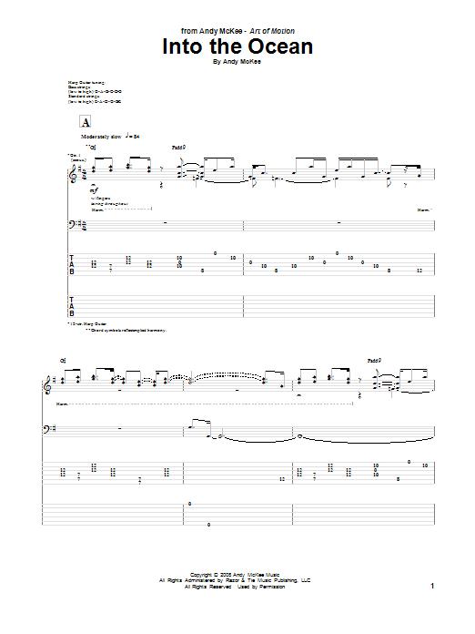 Tablature guitare Into The Ocean de Andy McKee - Tablature Guitare