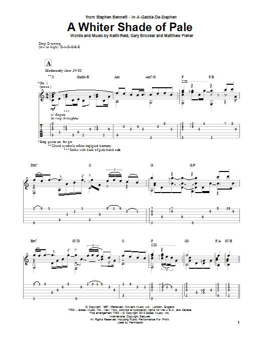 Sheet Music Digital Files To Print - Licensed Procol Harum Digital ...