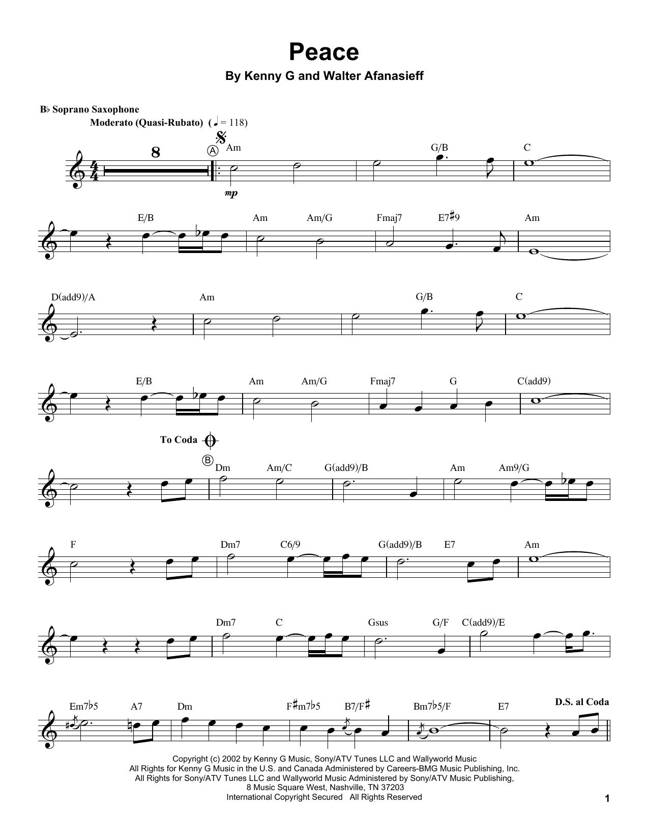 Sheet Music Digital Files To Print - Licensed Kenny G Digital Sheet ...