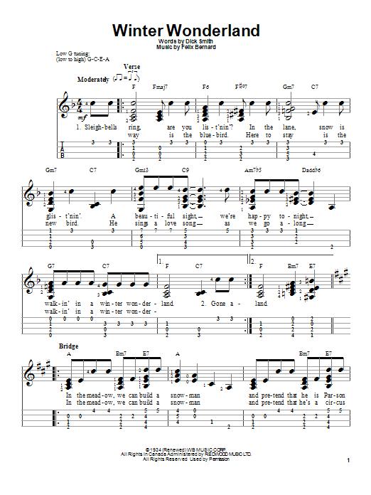 Winter wonderland sheet music direct