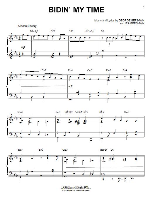 Partition piano Bidin' My Time de George Gershwin - Piano Solo