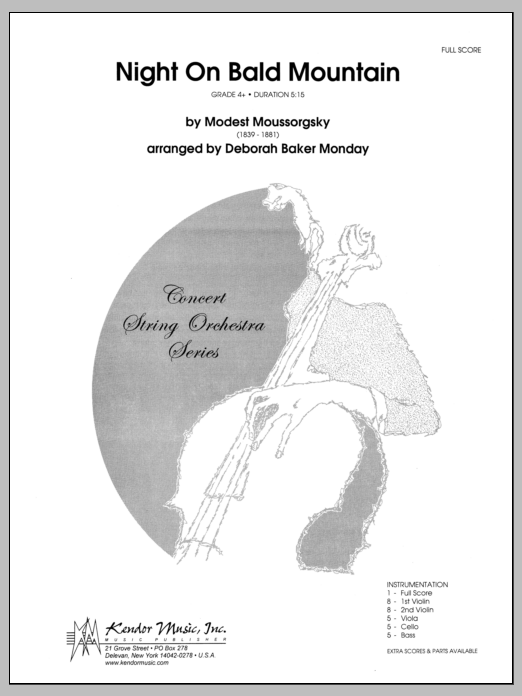 Night On Bald Mountain (COMPLETE) sheet music for orchestra by Monday