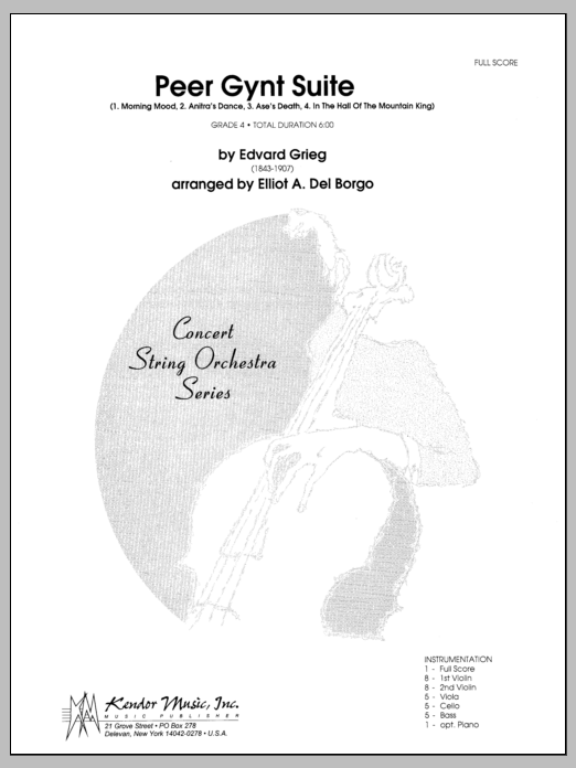 Peer Gynt Suite (COMPLETE) sheet music for orchestra by Edward Grieg