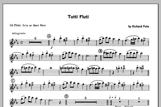 Tutti Fluti (COMPLETE) sheet music for flute quartet by Fote
