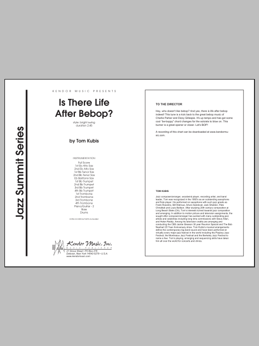 Is There Life After Bebop? (COMPLETE) sheet music for jazz band by Kubis