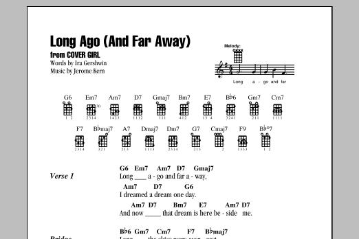 Tablature guitare Long Ago (And Far Away) de Ira Gershwin - Ukulele (strumming patterns)