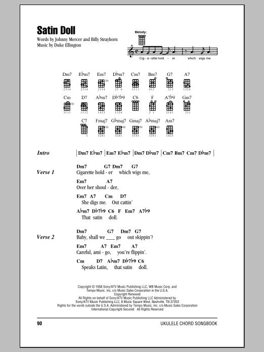 Tablature guitare Satin Doll de Duke Ellington - Ukulele (strumming patterns)