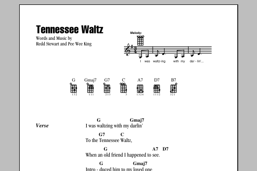 Tablature guitare Tennessee Waltz de Patti Page - Ukulele (strumming patterns)