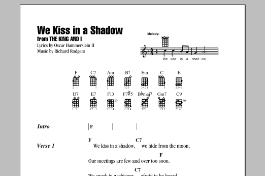 Tablature guitare We Kiss In A Shadow de Richard Rodgers - Ukulele (strumming patterns)