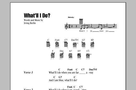 Tablature guitare What'll I Do? de Irving Berlin - Ukulele (strumming patterns)