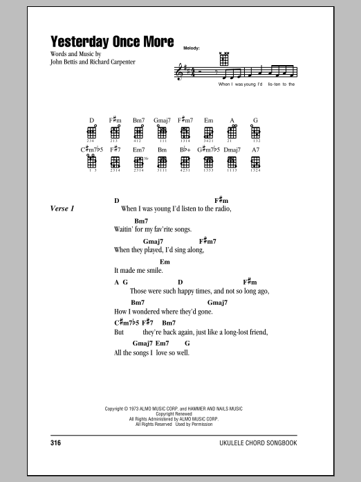 Sheet Music Digital Files To Print - Licensed The Carpenters Digital ...
