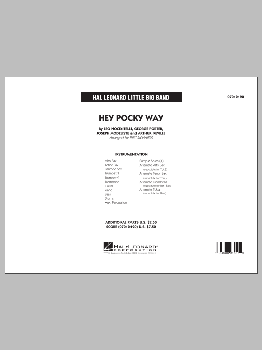 Hey Pocky Way (COMPLETE) sheet music for jazz band by Eric Richards