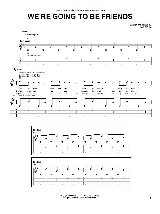 Weu0026#39;re Going To Be Friends : Sheet Music Direct