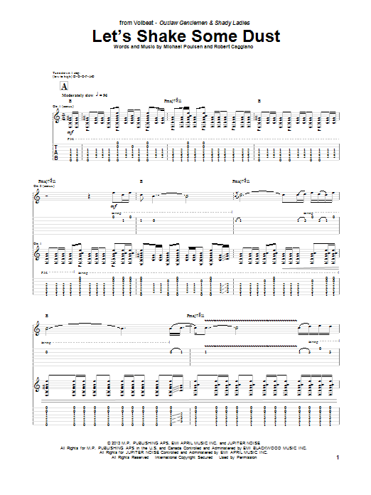 Tablature guitare Let's Shake Some Dust de Volbeat - Tablature Guitare