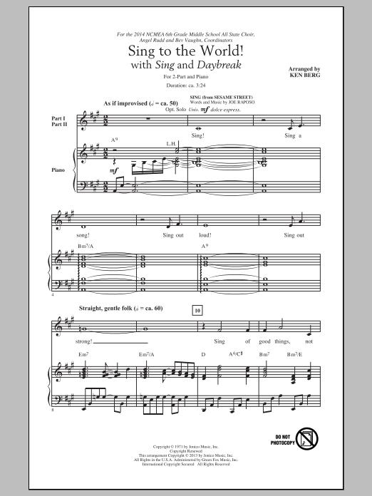 Partition chorale Daybreak de Ken Berg - 2 voix