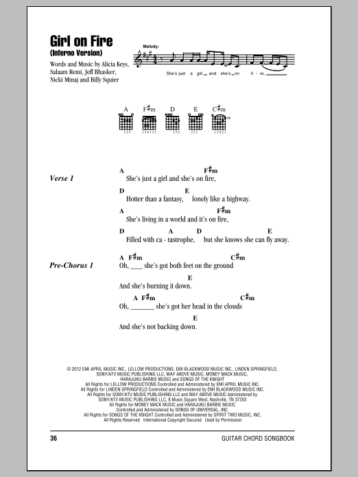 Sheet Music Digital Files To Print - Licensed Alicia Keys Digital ...