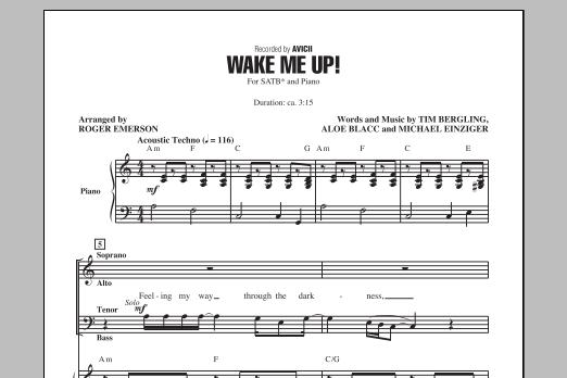 Partition chorale Wake Me Up! de Avicii - SATB