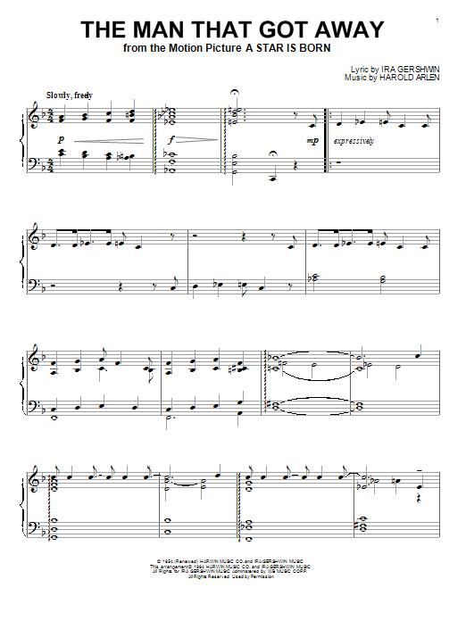Partition piano The Man That Got Away de Harold Arlen - Piano Solo