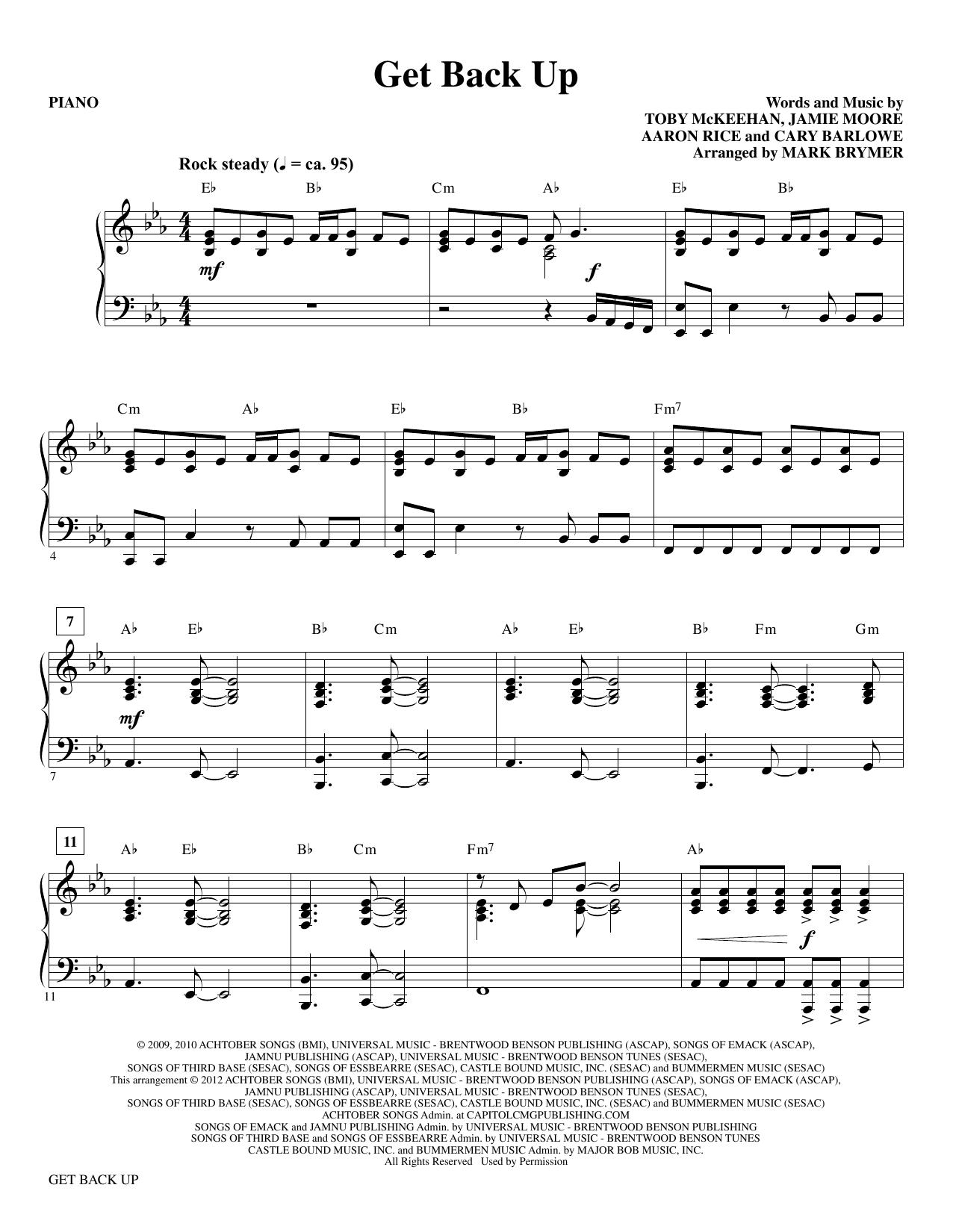 tobyMac - Get Back Up - Piano
