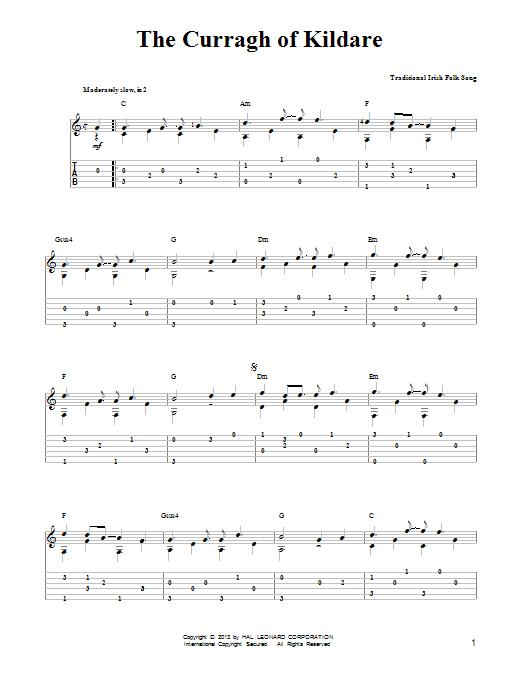 Tablature guitare The Curragh Of Kildare de Mark Phillips - Tablature guitare facile