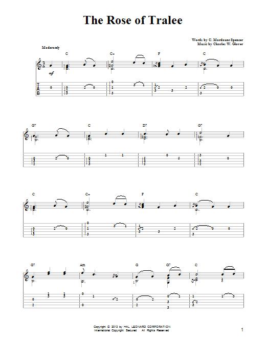 Tablature guitare The Rose Of Tralee de Mark Phillips - Tablature guitare facile