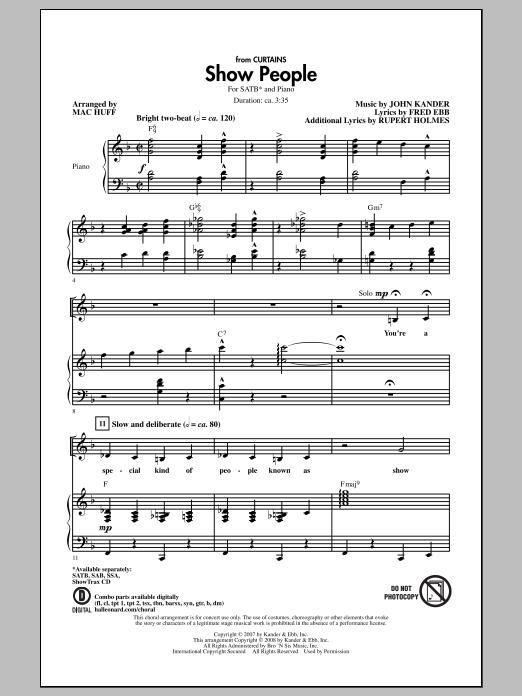Partition chorale Show People de Mac Huff - SATB