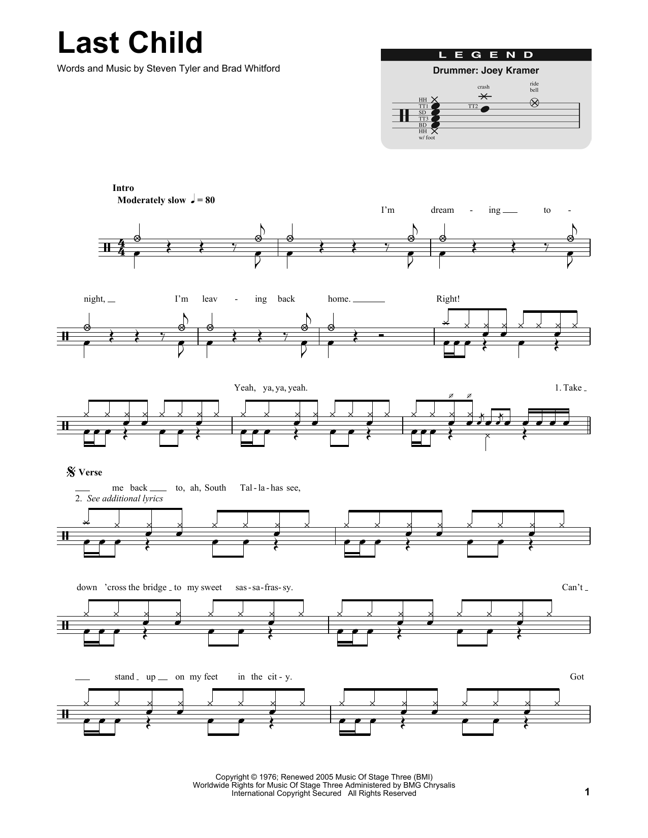 Sheet Music Digital Files To Print Licensed Aerosmith Digital