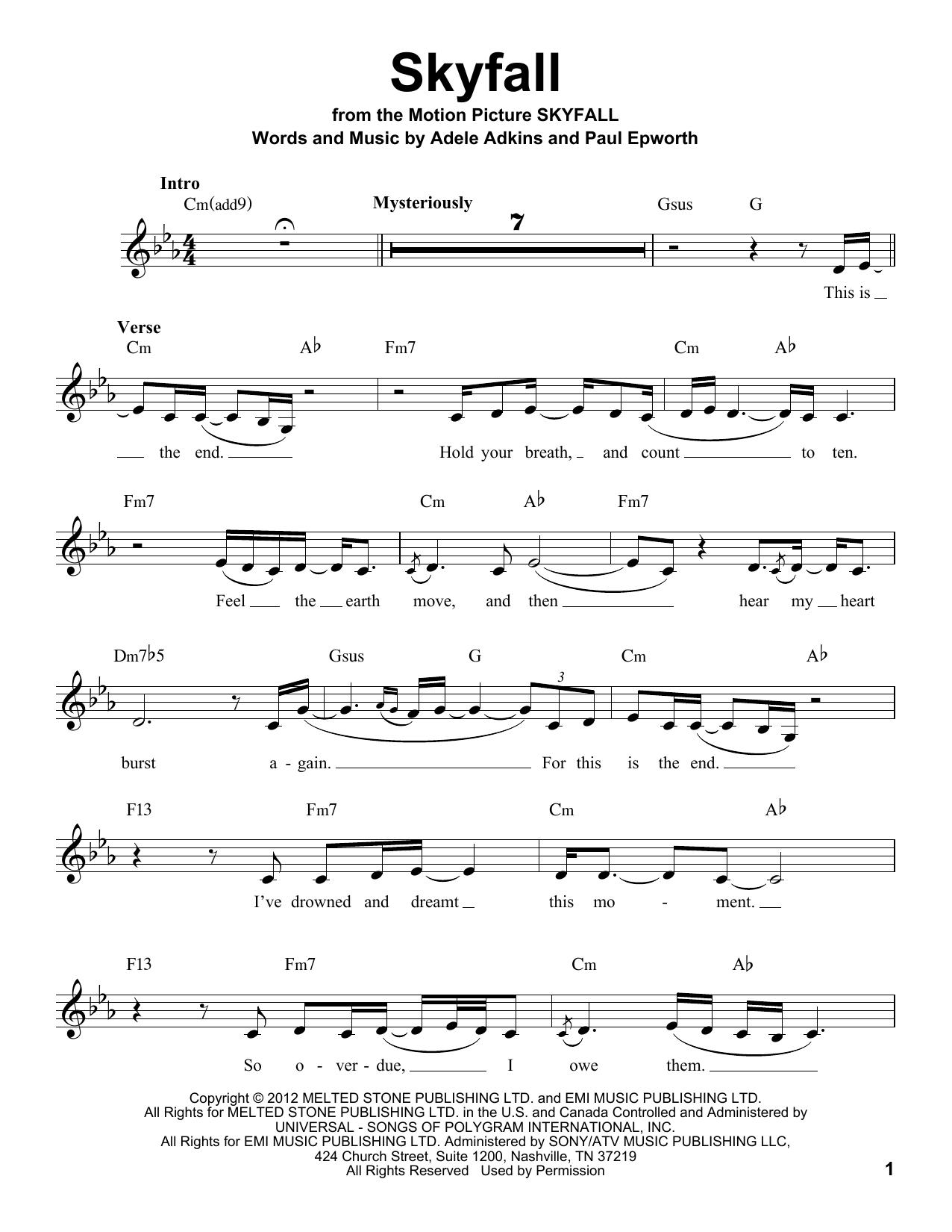 Partition autre Skyfall de Adele - Voix