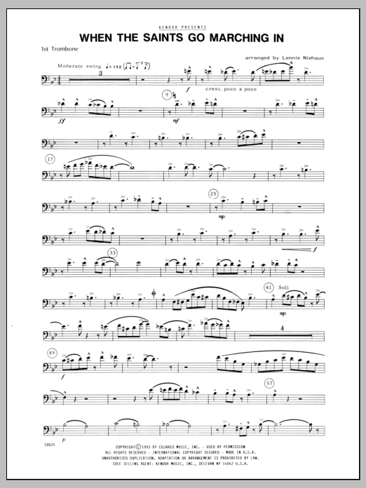 When the Saints Go Marching In - 1st Trombone | Sheet Music Direct