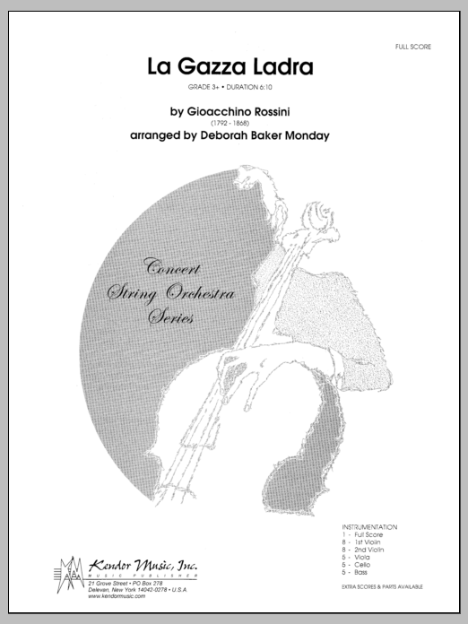La Gazza Ladra (COMPLETE) sheet music for orchestra by Monday