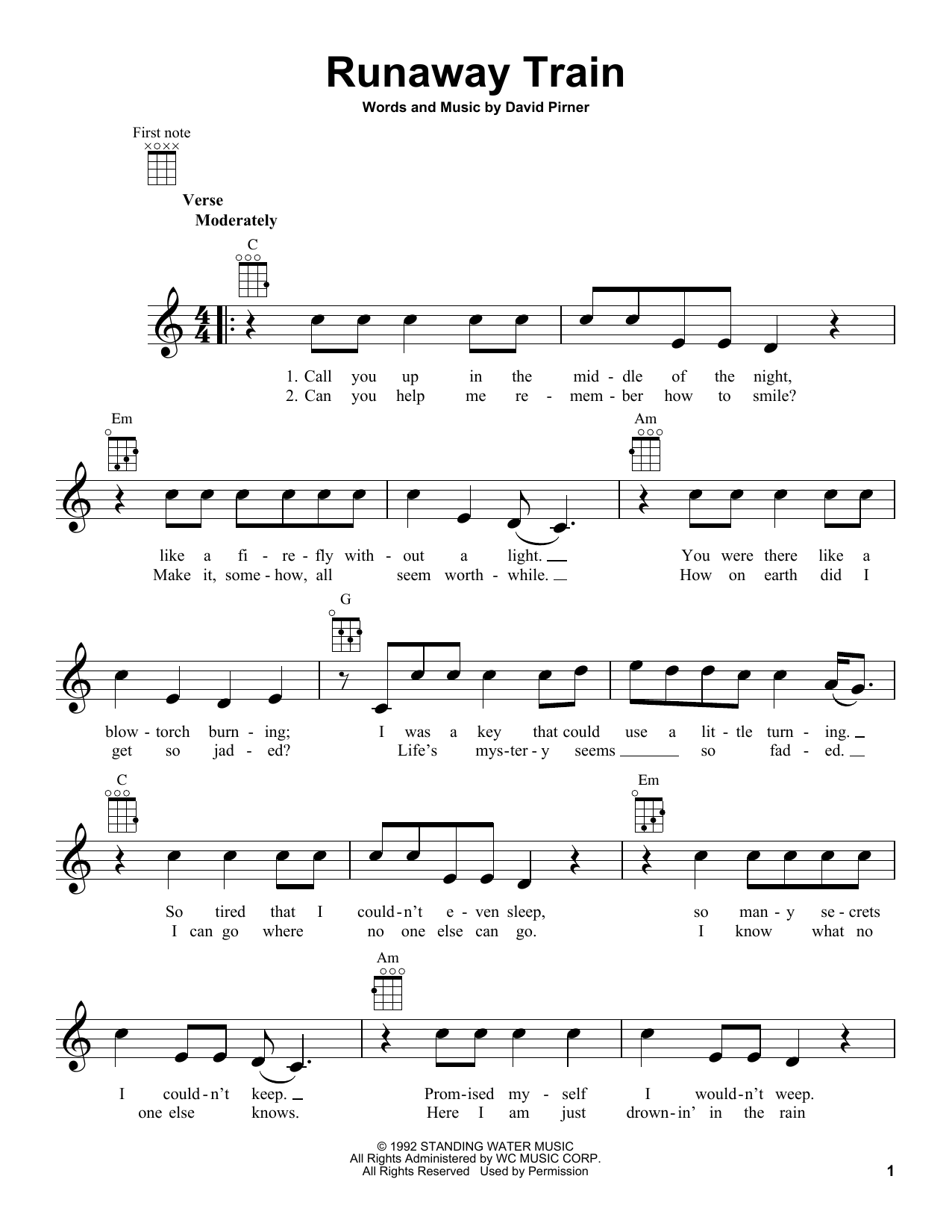 Sheet Music Digital Files To Print - Licensed Soul Asylum Digital ...