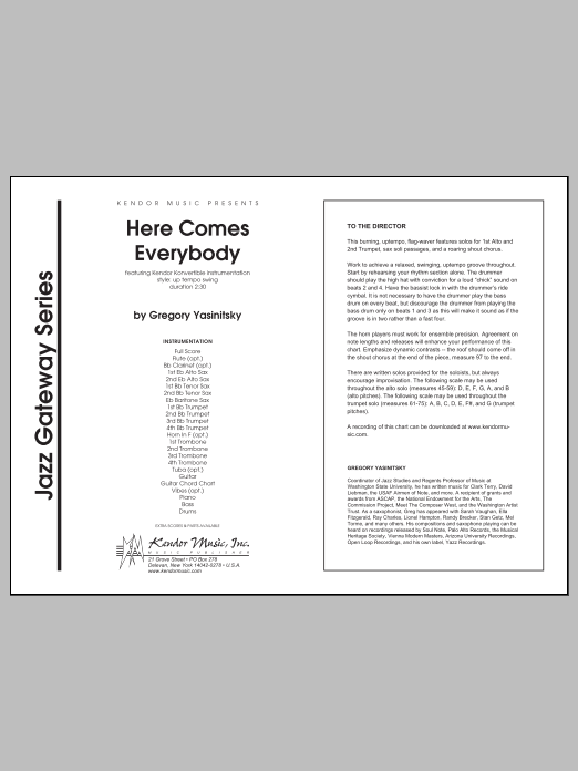 Here Comes Everybody (COMPLETE) sheet music for jazz band by Yasinitsky