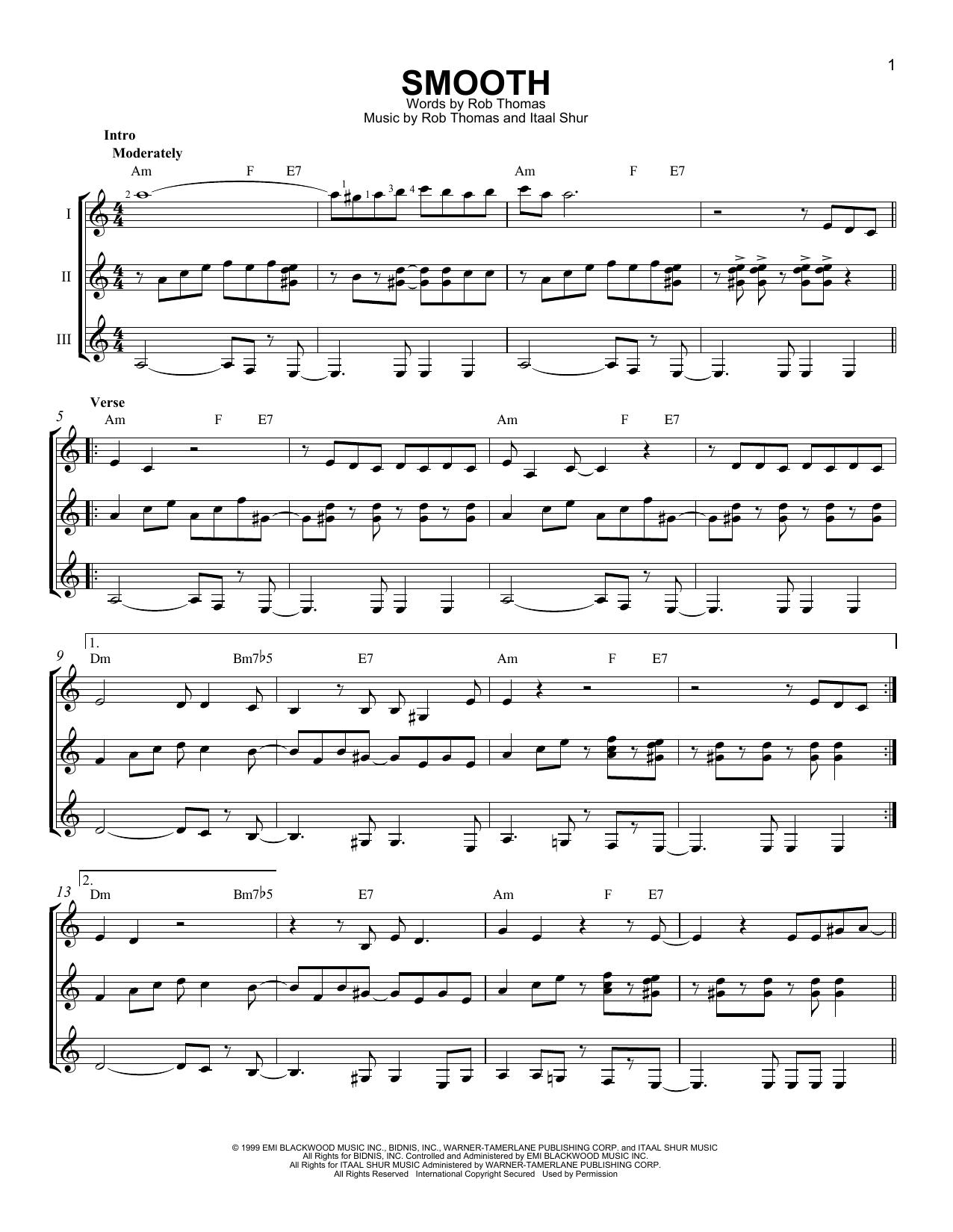 Partition autre Smooth de Santana featuring Rob Thomas - Autre