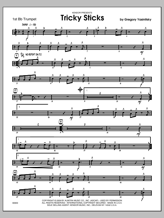 Tricky Sticks (COMPLETE) sheet music for jazz band by Yasinitsky