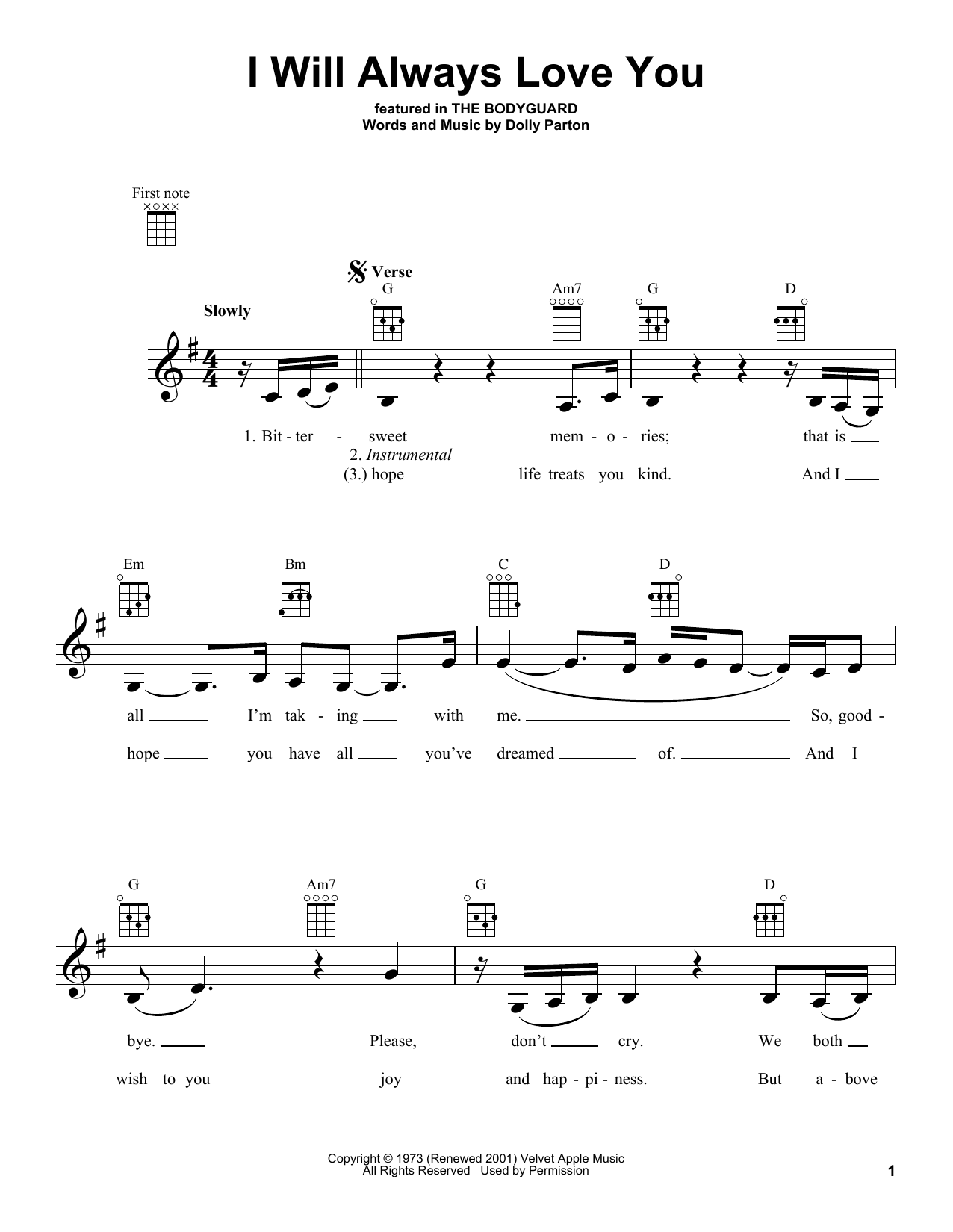 Sheet Music Digital Files To Print - Licensed Ukulele Digital Sheet ...