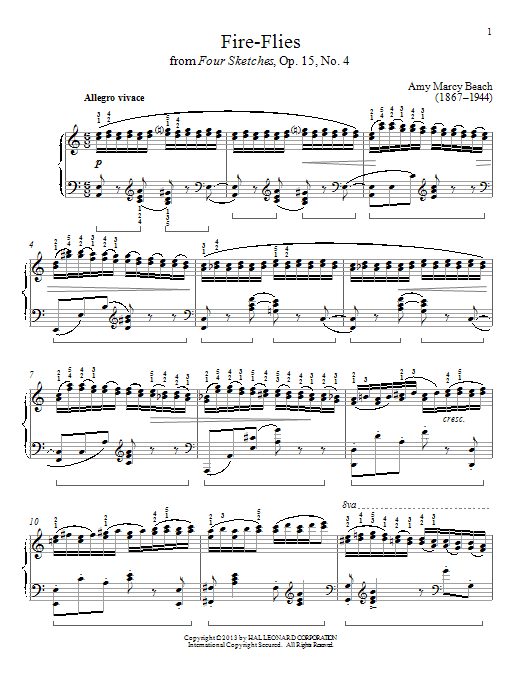 Partition piano Fire-Flies de Gail Smith - Piano Solo